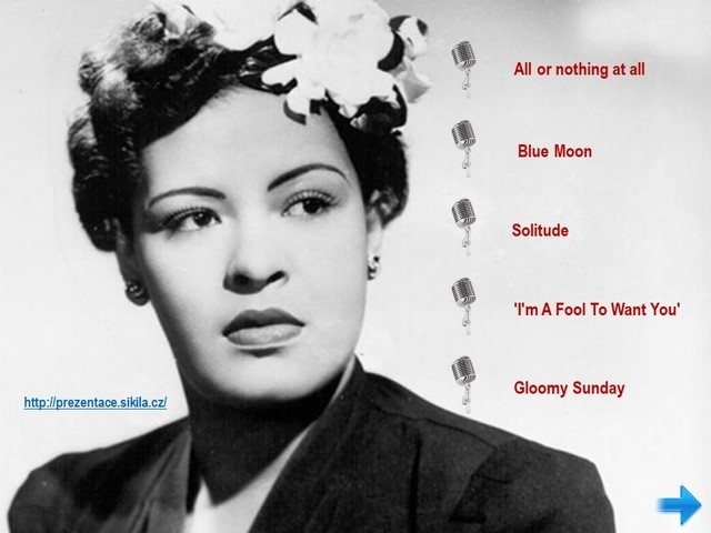 Náhled prezentace ppsx Billie Holiday